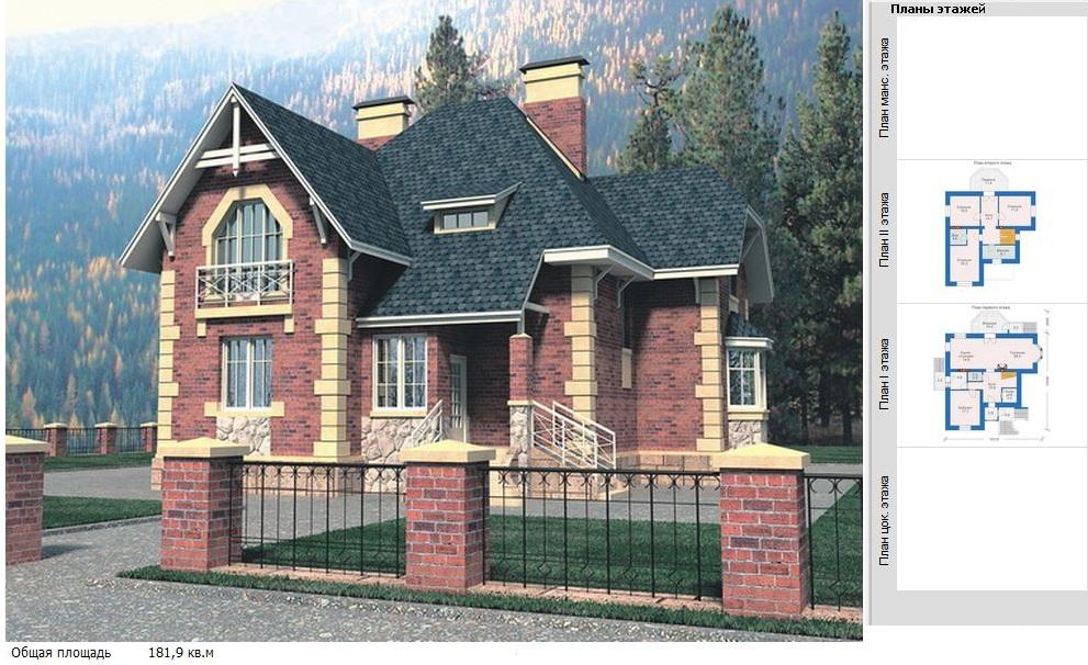 Дома площадью от 150 до 200 кв.м. Проект деревянного дома 32-62