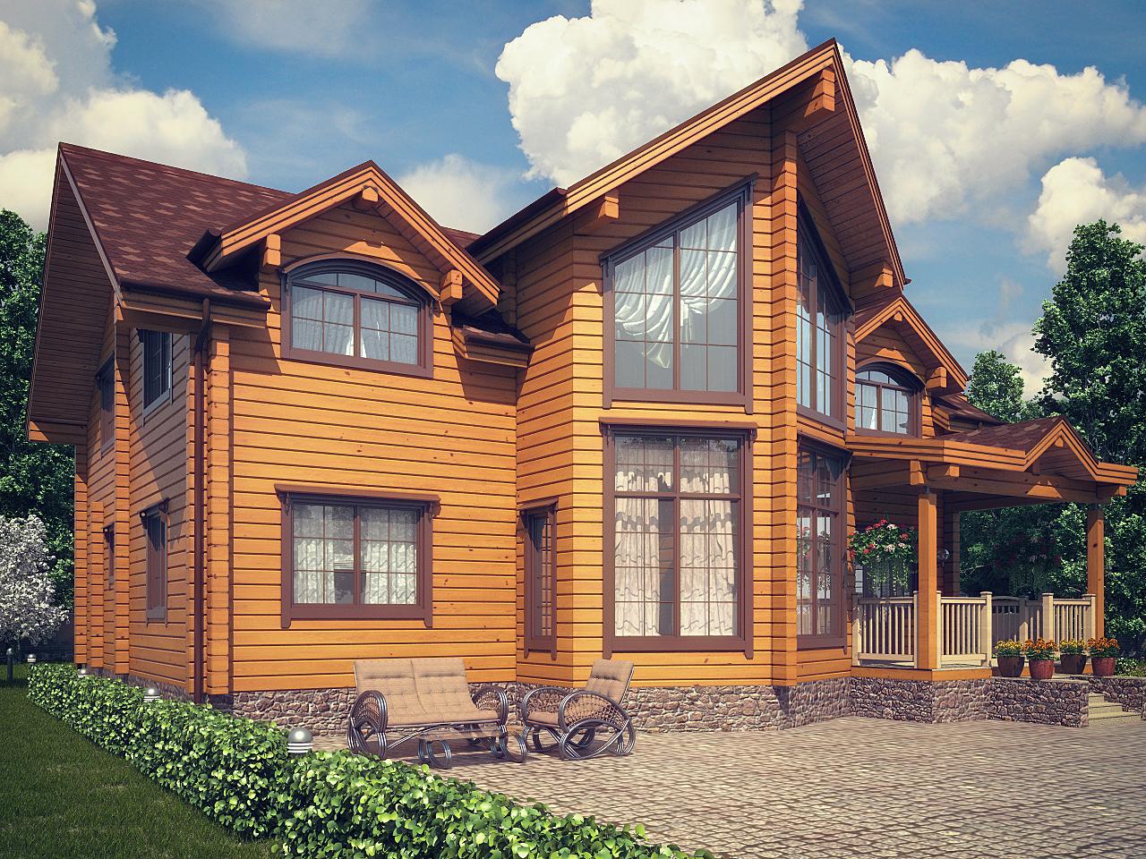 какой построить дом из бруса фото давно уже выпускаются
